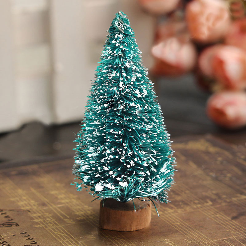 Snow Mini Christmas Tree Ornament Decor Holiday Festival