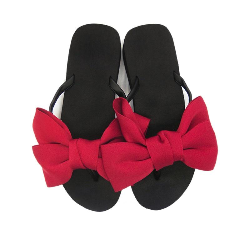2018 New Flip Flops Fashion Solid Women Shoes EVA Platform Slip on Summer Slipppers Shoes Women Big Bow Decoration Sandals Woman (19)