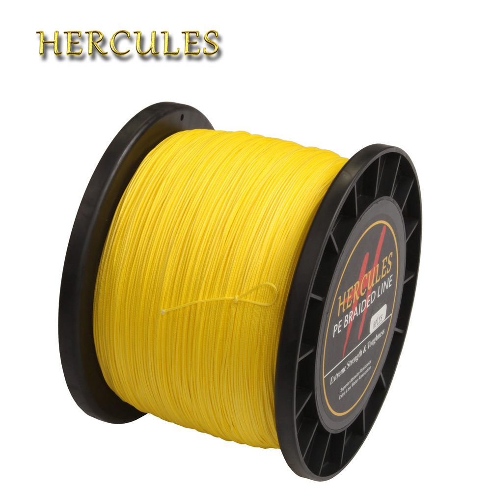 Hercules 1500M Fishing Line 120LB Multifilament Braided Fishing Line PE Tresse Peche 8 Strands Super Strong Carp Fishing Pesca