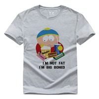Cartoon South Park Kiss My Ass Biatch T Shirts Men DIY Funny Tshirts Short Sleeve O Neck T-shirts Fashion Tees XS-XXL