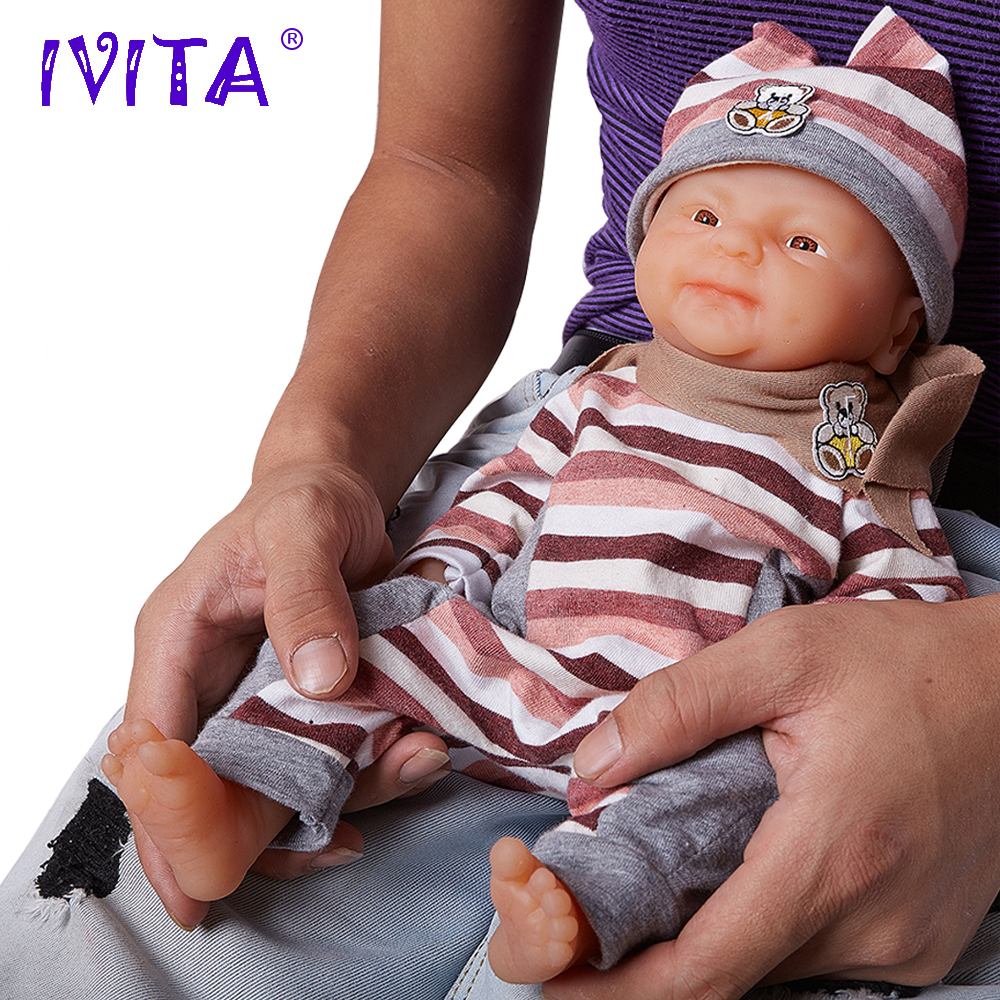 IVITA 14inch/1.65kg Girl Eyes Opened Silicone Reborn Dolls Baby Born Full Body Alive Simulated Boneca Reborn Silicone Completa ivita 20 inch baby doll reborn dolls born babies silicone dolls reborn alive doll girl boneca reborn silicone completa toys