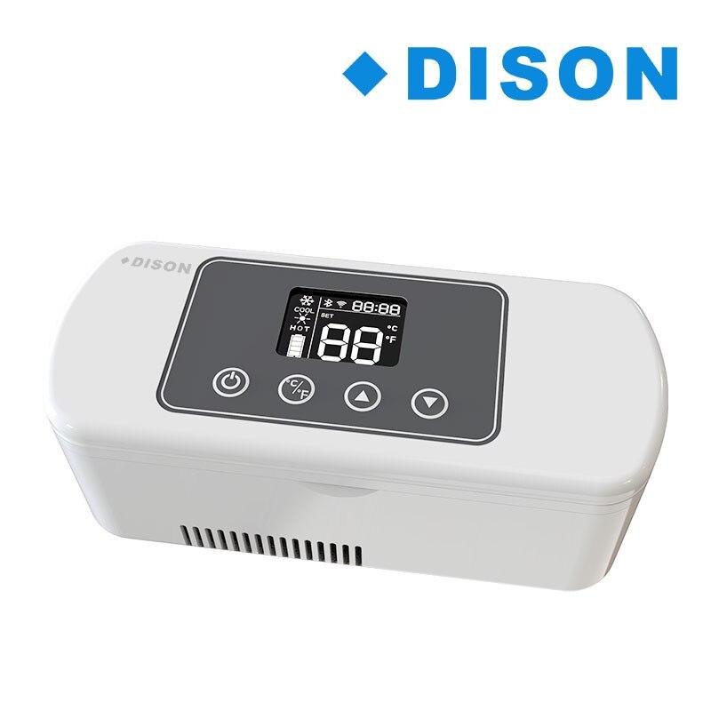 Dison Voyage Portable Médecine Congélateur Insuline Diabétique Refroidisseur Mini Frigo Cas Cadeau travail 20 heures l'insuline réfrigérateur