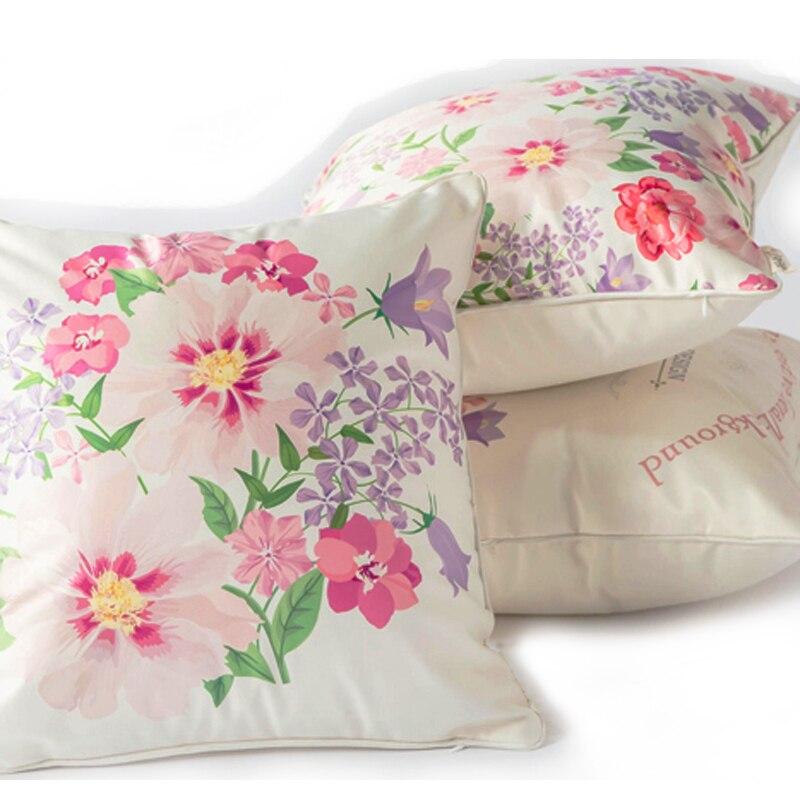 ღ Ƹ̵̡Ӝ̵̨̄Ʒ ღRosa Flores de seda Telas sofá Fundas de colchón ...
