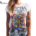 S-XXL fashion summer 2016 t shirt women wonder print punk rock t-shirt girls tops couple clothes plus size camisetas mujer