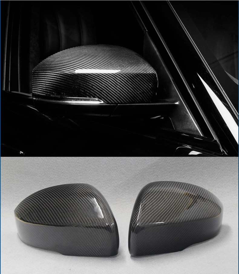 Carbon Fiber Style For Range Rover Sport RR Sport 2014-17 ABS Plastic Side Rearview Mirror Cover Trim For Landrover Discovery 4 4pcs carbon fiber style abs plastic inner door decoration cover trim for landrover range rover sport rr sport 2014 2017 new