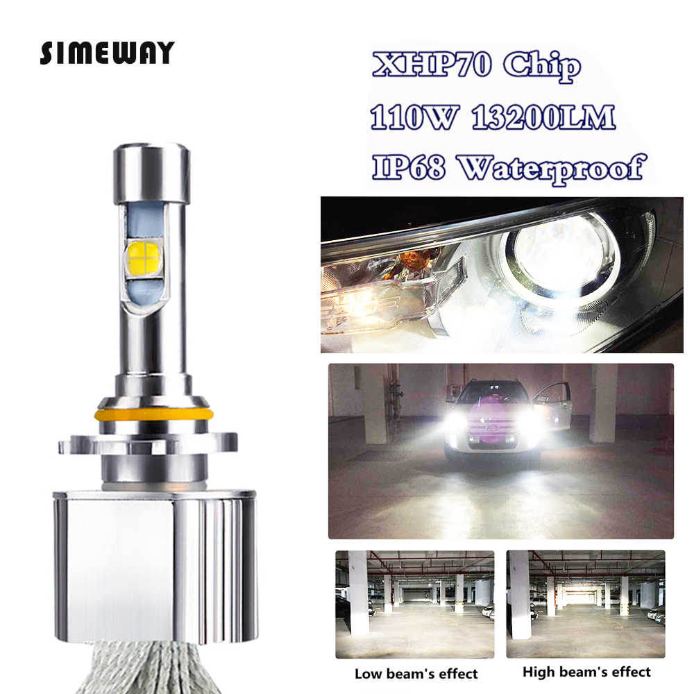 Car LED Headlight H11 Kit xhp70 LED 6000K 55W 6600LM super led H4 H7 H8 H9 HB3 9005 HB4 HIR2 9004 H13 D1S D3S car fog lamps 12V