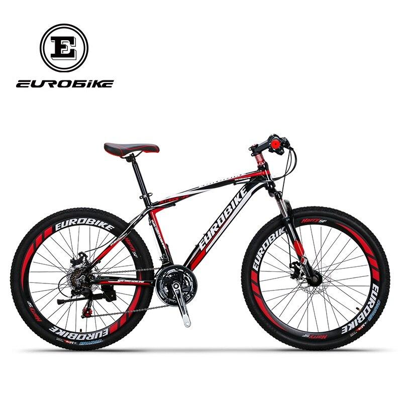 EUROBIKE GTR 21 Speed  Aluminum Mountain Bike Dual Disc Brake Mountain Bicycle