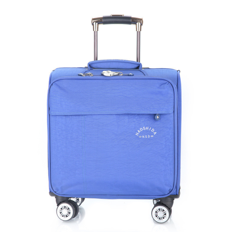 16inches Business Casual men's boarding suitcase luggage trolley travel Universal wheel luggage case Lockable computer case