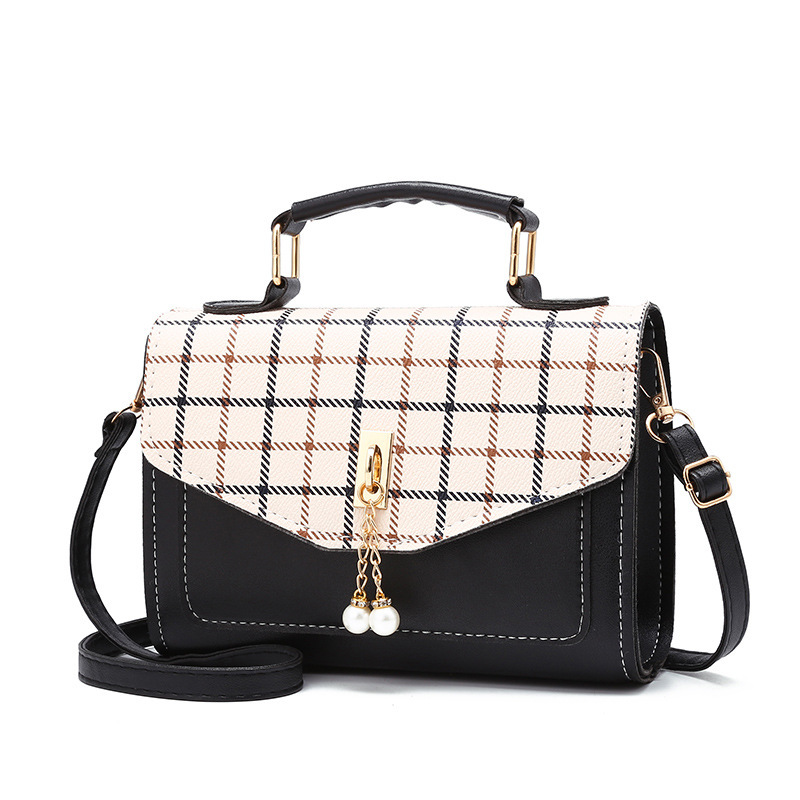 Women Bag 2019 New Plaid Handbag Fashion Flap Small Crossbody Bags For Messenger Leather Las Hand