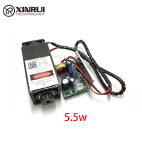 5 5w High Power 450NM Focusing Blue Laser Module Laser Engraving And Cutting TTL Module 5500mw