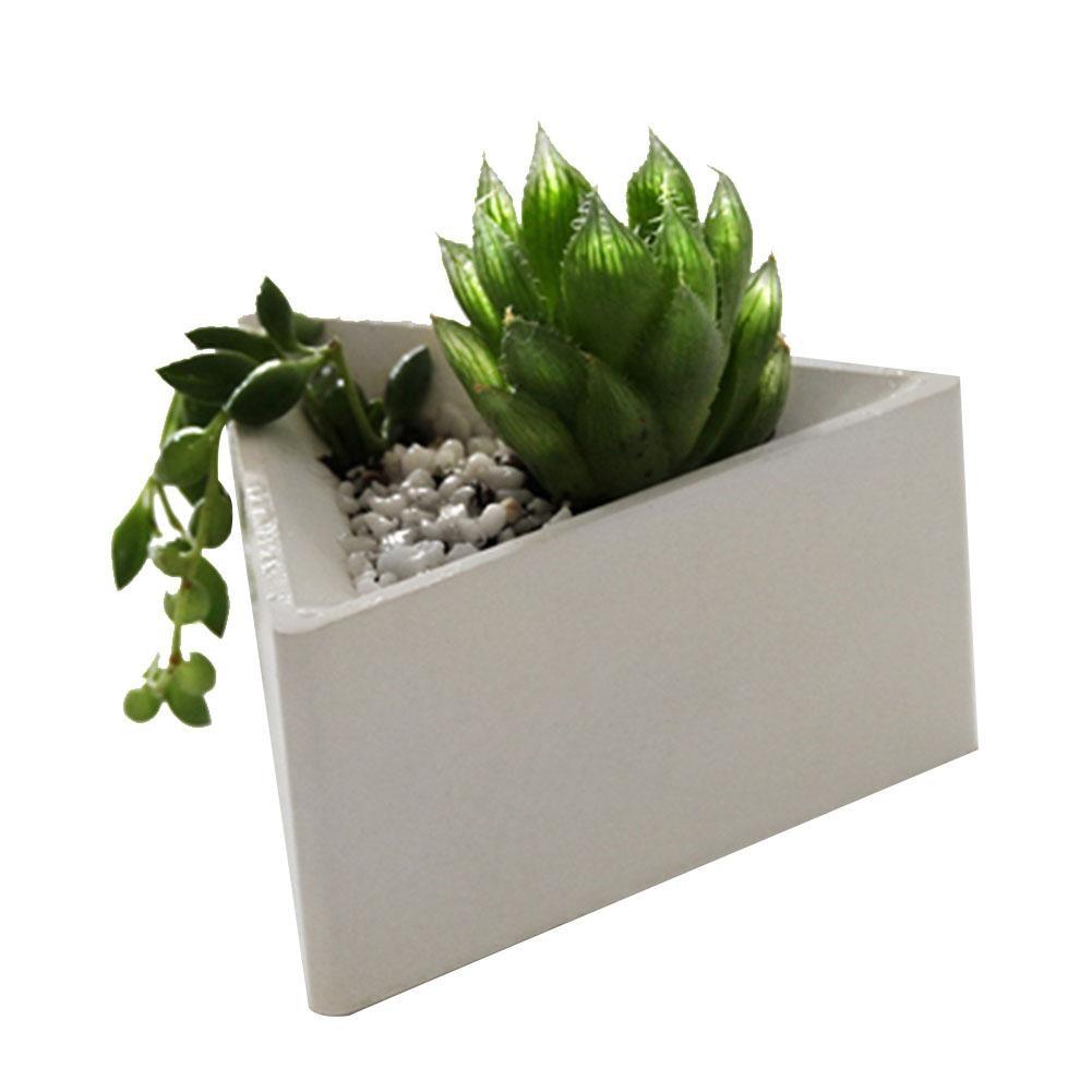 Triangle Silicone Molds Concrete Molds Flower Multi Succulents Plants Cement Planter Mold Home Decorate
