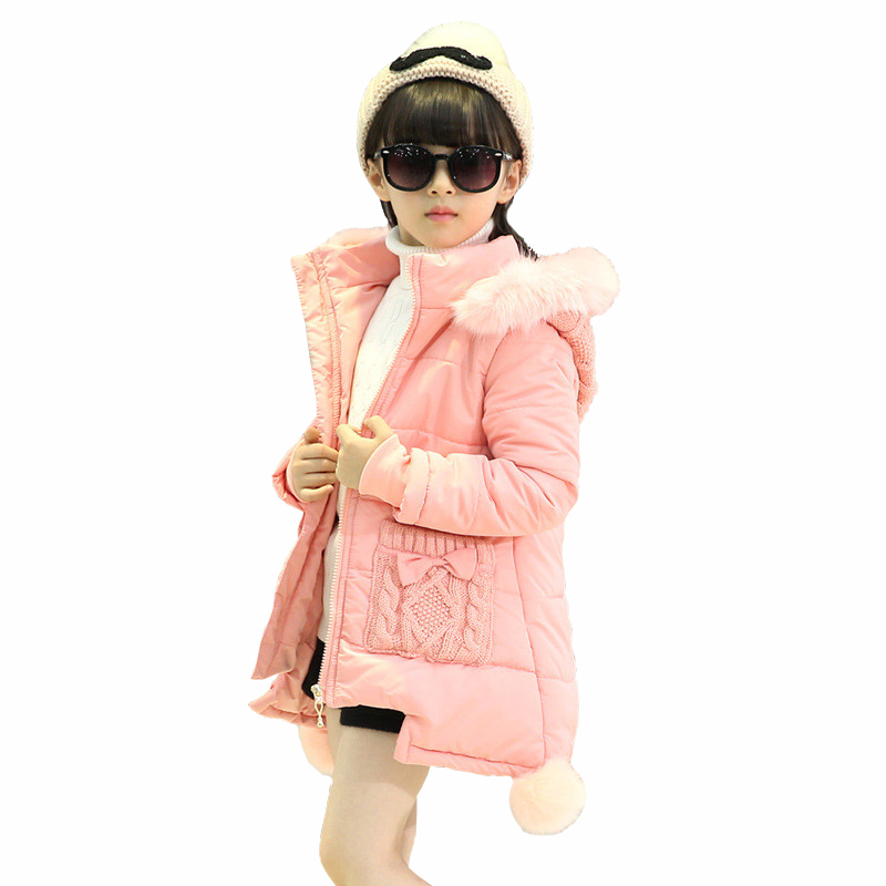 ФОТО Tribros 2016 Winter Girls Children Cute Thicken Outerwear Snowsuit  Clothing Coats Jackets Warm Clothes Kids Down Parkas
