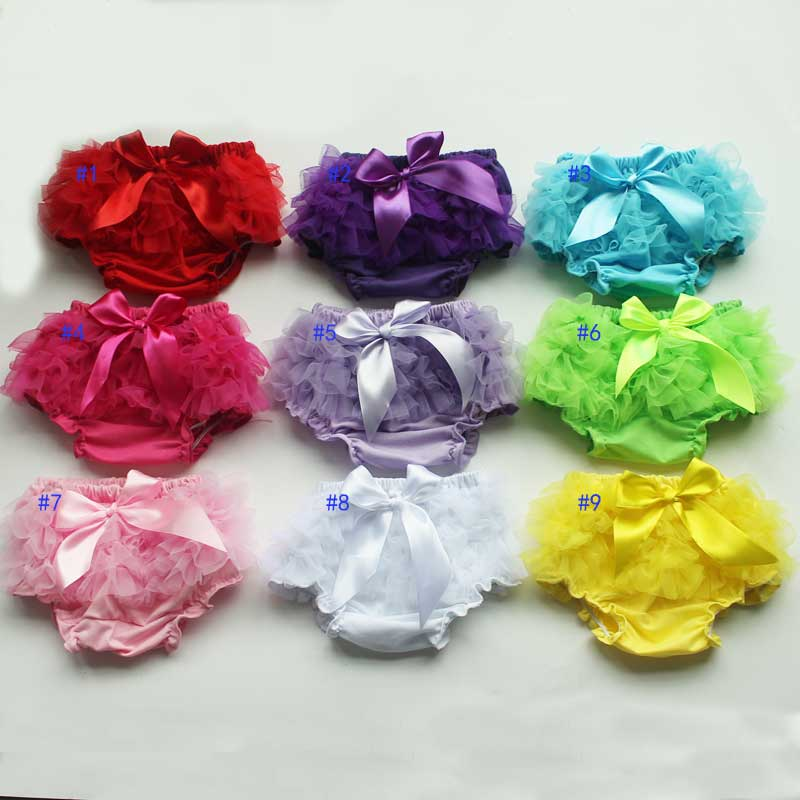 0-3 T Zachte Katoenen Baby Bloeiers Baby Waggel Luier Cover Kids Ruffle Bloomer Voor Meisjes Jongens Vele Kleuren Gebruiksgoederen