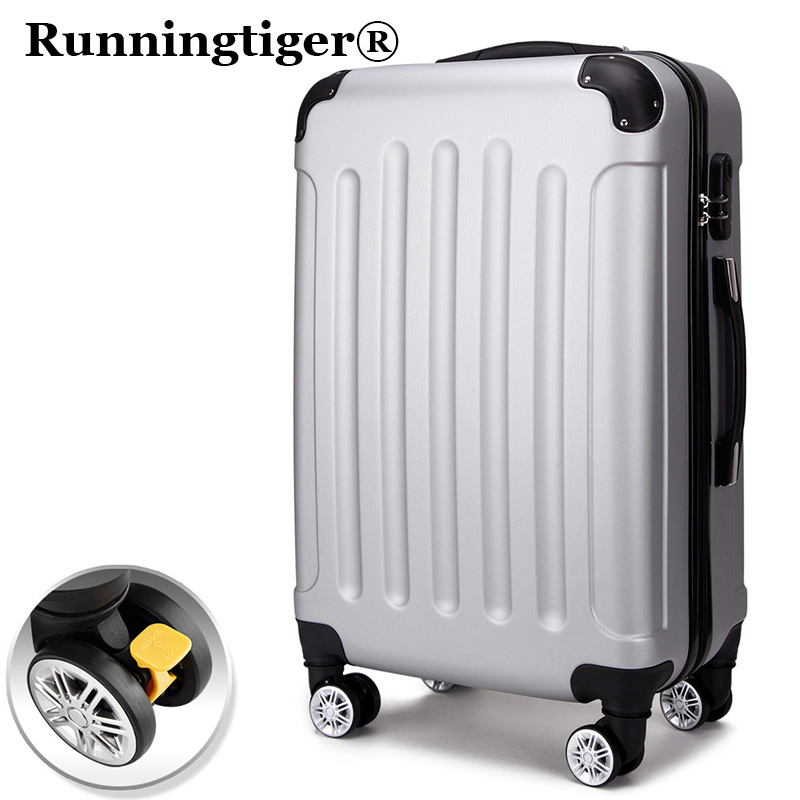 Bagages à roulettes 24 bagages chariot ABS + PC valise bagages étudiant mot de passe boîte Mme d'extension de capacité d'embarquement