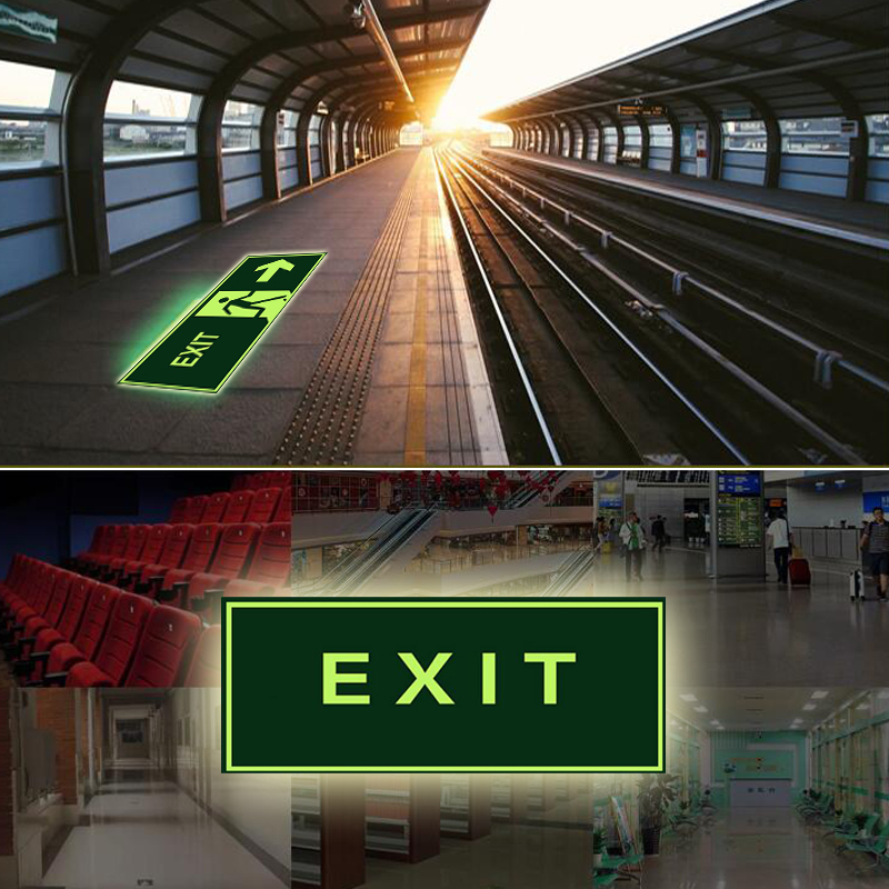 Luminous Tape Self-adhesive Glow In Dark Sticker For Exit Sign Walls Safety Stage Night Vision Home Decoration Tape 3