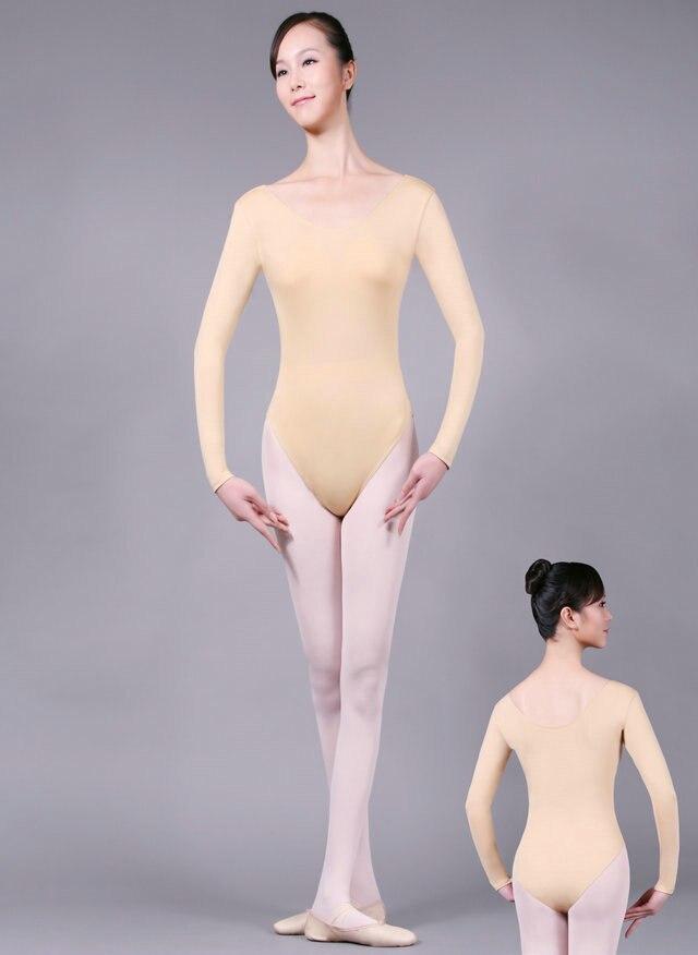 childs kids girl Women Adult Camisole Gymnastics Leotard Dance long sleeve Ballet Underwear Skin Color Leotard Nude Leotard