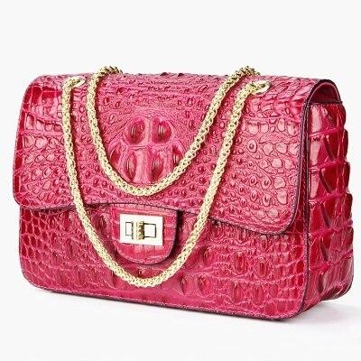 Top quality Crocodile leather handbags, fashion handbags high-end leather satchel BAG chain women Classic handbag 247 classic leather
