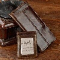Cobbler Legend 2019 Genuine Leather Wallet Men Purse Long Designer Cash Card Holder Clutch Bag Coin Pocket Vintage Male Wallet