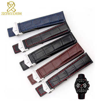 Genuine leather bracelet 19mm 20mm 22m watchband mens wristwatches band  accessories watch belt  fold buckle leather watch strap - DISCOUNT ITEM  35% OFF All Category