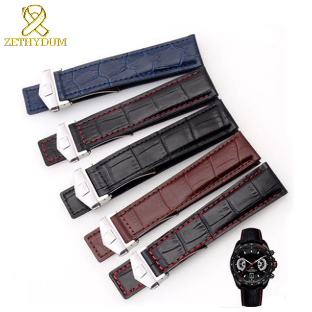 Genuine leather bracelet 19mm 20mm 22m watchband mens wristwatches band accessor