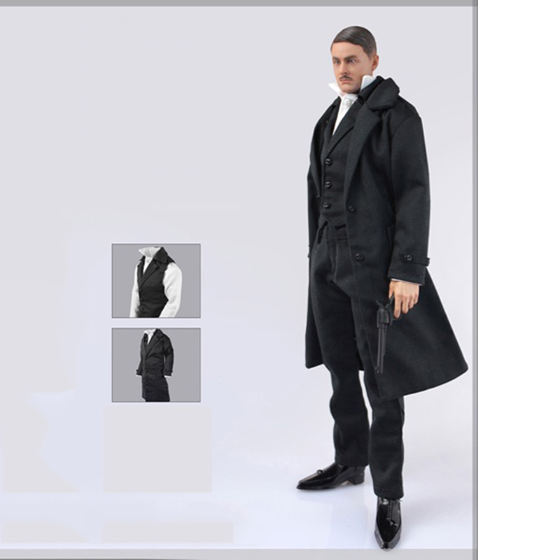 """1//6 Scale Male Overcoat Model for 12/"""" Action Figure"""
