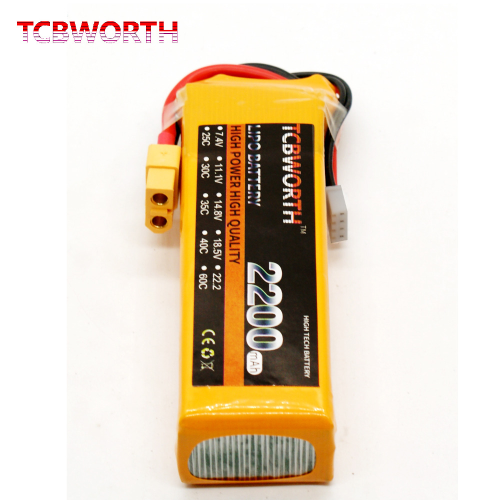 TCBWORTH 11.1V 25C 2200mAh 3S RC LiPo Battery for RC Airplane Drone Li-ion(Lithium-ion) Cell 30a 3s polymer lithium battery cell charger protection board pcb 18650 li ion lithium battery charging module 12 8 16v