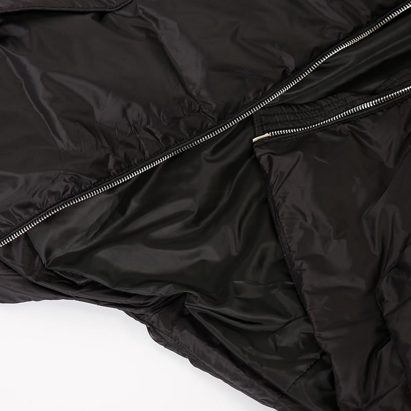 Mujer Chaqueta white Literaria Un En Multi Abrigo De Black Tamaño Brazalete Gran Grueso bolsillo Y6218 Largo OpSHw7