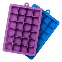 купить Silicone Ice Cube Tray with Lid Ice Cream Cake Mold Maker Easy to Release kitchen Accessories Tools Medium Square Cube Baking дешево