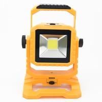 Led Flood Lights 20w Rechargeable Detachable Battery Floodlight Cool White IP67 Waterproof Outdoor Spotlight Garden Light