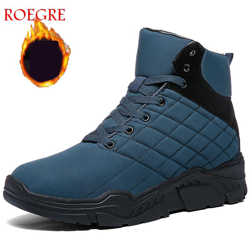 2019 Autumn New And Winter Martin Boots Men Non-slip Lace-Up Mens Shoes Plush Warm Fashion Casual  Snow BootsRubber Male Boots