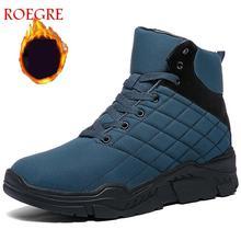 2019 jesień nowe i zimowe Martin buty mężczyźni antypoślizgowe sznurowane męskie buty pluszowa ciepła moda Casual Snow BootsRubber buty męskie tanie tanio Dla dorosłych Syntetyczny Połowy łydki Buty śniegu Okrągły nosek Krótki pluszowe Gumy Platforma 1820 Zima Stałe