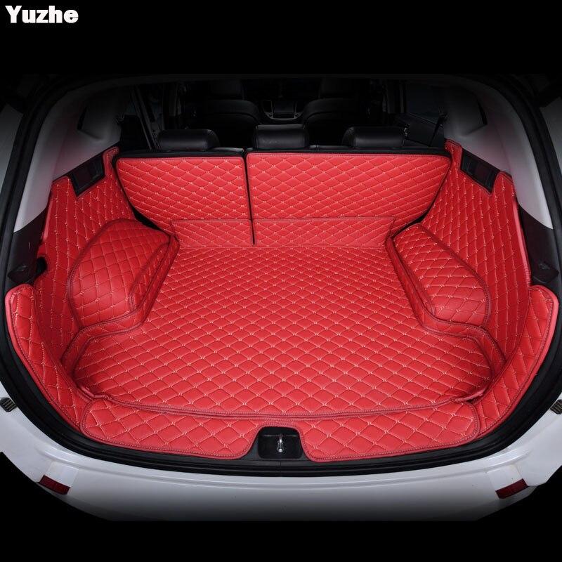 Yuzhe пользовательские багажник автомобиля коврик для Hyundai Tucson 2017 2016 Коврики для багажника Салонные аксессуары Ковры Тюнинг автомобилей ковр...