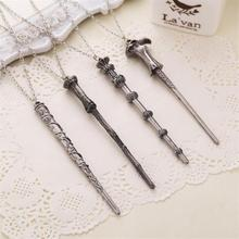 Famous Film Harry Potter Protagonist Harry's Magic Wand Alloy Pendant Necklace For Both Man And Woman(China (Mainland))