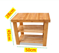 Bamboo wood multilayer shelf storage rack simple shoes shoe modern minimalist shoe made of bamboo