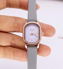 New Lady Women's Watch Japan Quartz Hours Fashion Clock Real Leather Bracelet Modern Classic Girl's Birthday Gift Julius Box