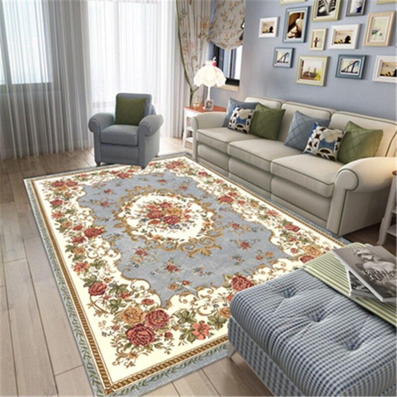 European Style Carpets For Living Room Bedroom Rugs Home Carpet Floor Door Mat Anti-Slip Decor House Area Rugs Delicate Carpet