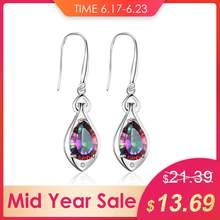 3892f3a15 Jewelry Water Drop 6.8ct Rainbow Fire Mystic Topaz Dangle Earrings Pure 925  Sterling Silver New Fine Jewelry For Women 2018 New