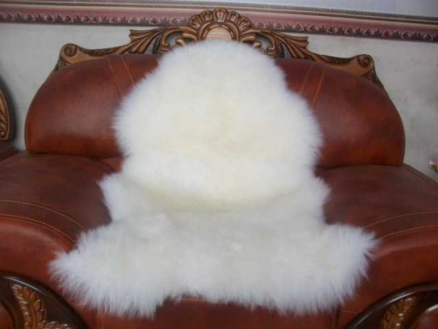 Free Shipping Genuine Single One Pelt Real Sheepskin White Australia Nature  Wool Rug Bedroom Fur Rug