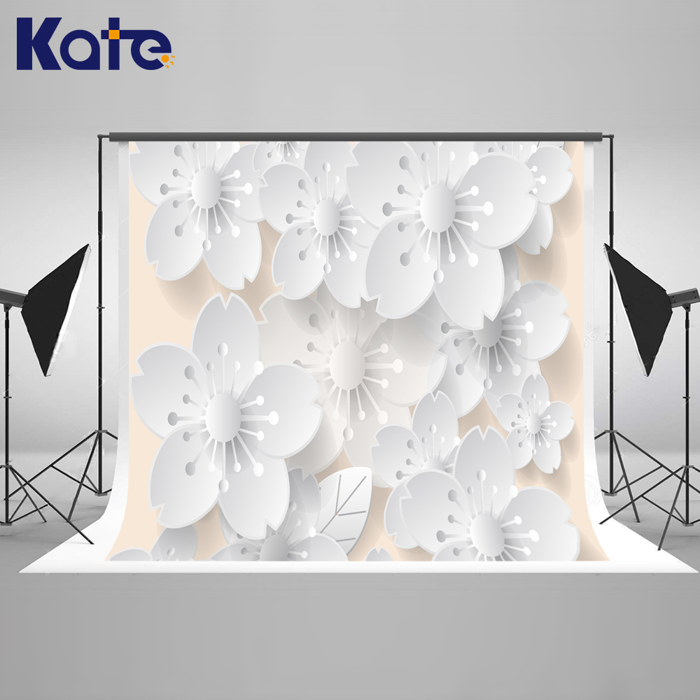 Kate White Flower Photography Background Backdrop Floral Backdrop Washable Photography Prop Newborn Girl Boy Wedding Backdrops сумка kate spade new york wkru2816 kate spade hanna