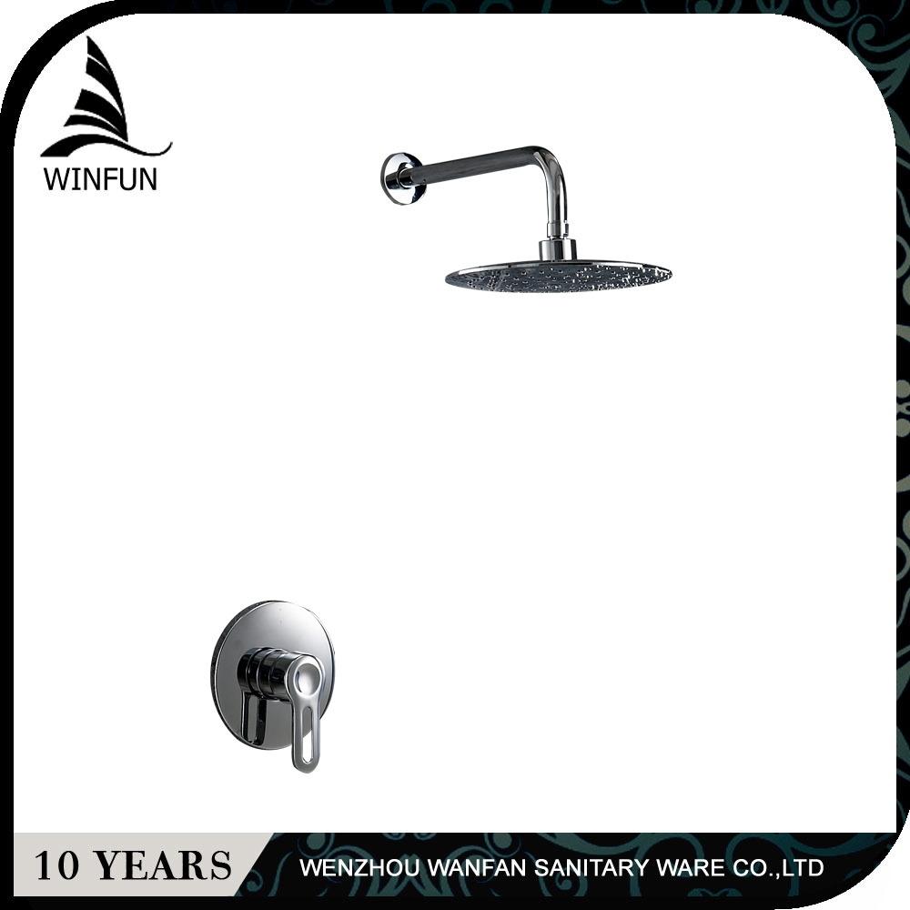ФОТО Free Shipping Wholesale And Retail concealed Bathroom Wall Mounted Chrome 8 Shower Head Shower Faucet Mixer Tap FS-1359