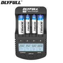 DLYFULL T1 AA Battery Charger for nimh nicd AA AAA Rechargeable batteries carregador de bateria Smart battery charger usb