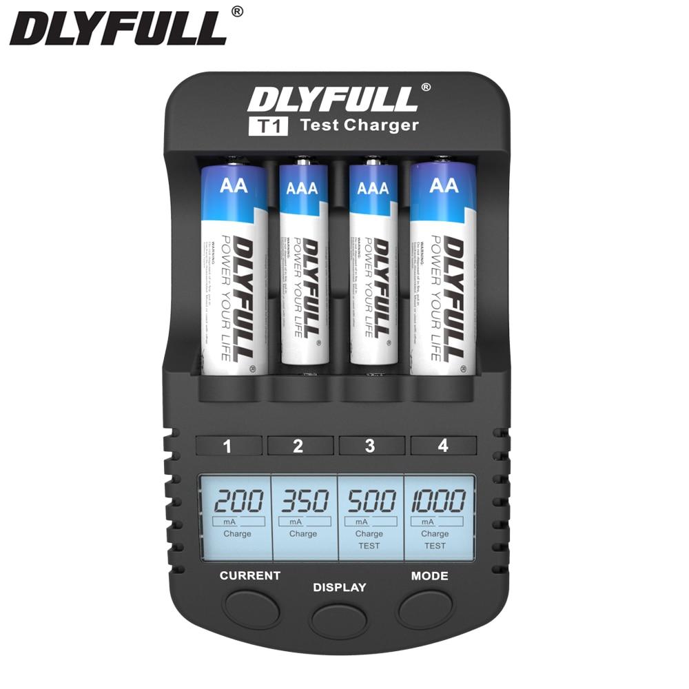 DLYFULL T1 AA cargador de batería de nimh nicd AA AAA baterías recargables cargador de batería inteligente cargador de batería usb