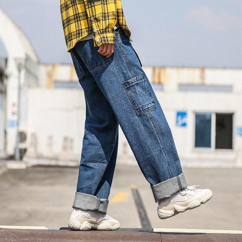Nostalgic Poche Color Blue Occasionnel Cargo navy Homme Lavage Restaurer 2018 baby Lâche Mode Hommes Jambe Pantalon Blue S Biker Baggy Large Jeans 2xl De Denim Classique Xqg7nR7wPx