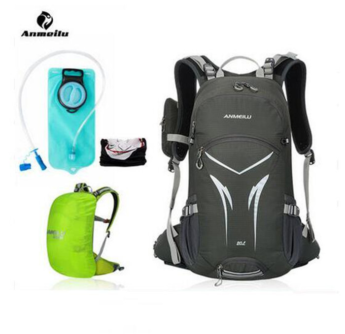 ANMEILU 2L Water Bag Camelback + Waterproof 20L Outdoor Sports Cycling Camping Hiking Bag Hydration Pack Water Bladder Backpack anmeilu 25l climbing bag sports rucksack waterproof cycling camping backpack rain cover sport travel bags 2l water bag camelback