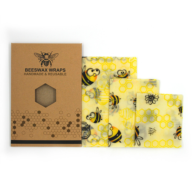 Reusable Beeswax Food Wraps Set