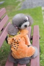 FA12  dog  warm Coral fleece coat  for 4 legs –Garfield, Batman, chinchillas Shape  design  pet clothing  pet dog clothing