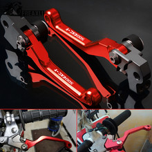 For KTM 500EXC-F 500 EXC F 2012 2013 2014-2018 CNC Aluminum Motorcycle Accessories Pivot Dirt bike Brake Clutch Levers Printing