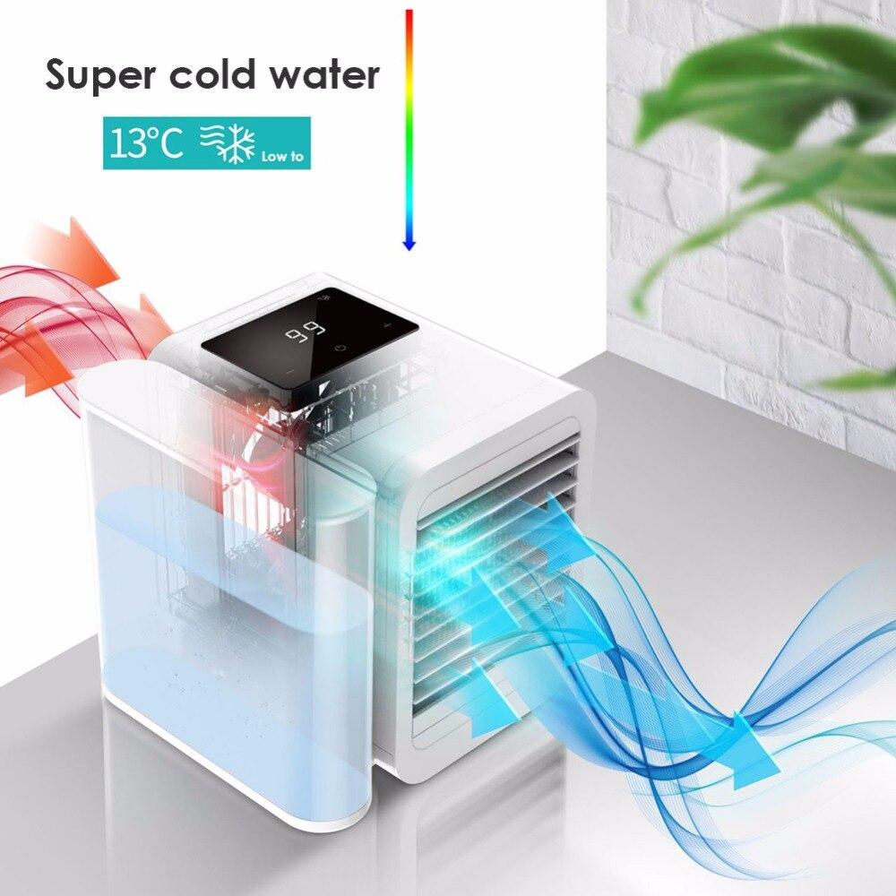 Mini climatiseur LCD affichage USB été refroidisseur humidificateur bureau 1000 ml réservoir d'eau ventilateur de refroidissement ventilateur pour bureau à domicile