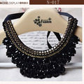 For Women,Fashion.Beautiful Gold Flowers Star Necklace Black Ribbon,Black False Collar Necklace Women Fashion Clothing Accessory