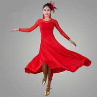 2018 standard ballroom dress ballroom dance competition dresses waltz dress costume danse 10 color flamenco